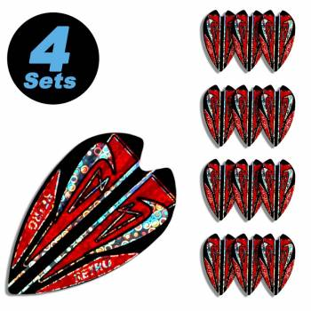4 Flight Sets (12 Stk) Retro Metallic 2D