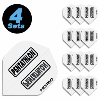 4 Flight Sets (12 Stk) Standard Polyester Pentathlon weiß HD150 super strong