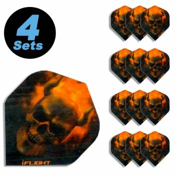 "4 Flight Sets (12 Stk) Standard Polyester extra strong ""Hellfire"""