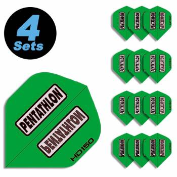 4 Flight Sets (12 Stk) Standard Polyester Pentathlon grün HD150 super strong