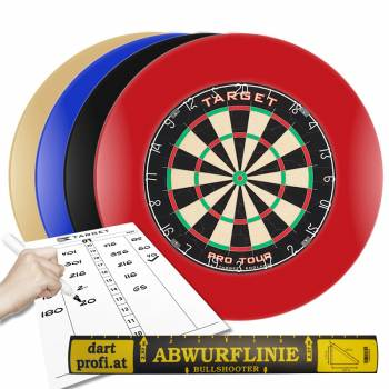 Complete Dart Arena Pro - Dartboard with surround, markerboard, throw line
