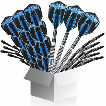 Softdart Big-Box 8Zero (Dartset, Flights, Schäfte, Spitzen) Phil Taylor
