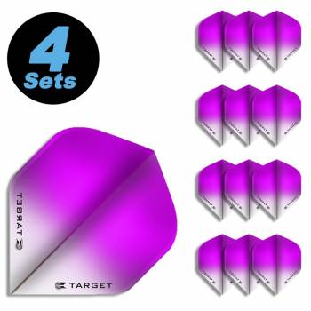 4 Flight Sets (12 Stk) Standard Vision Ultra Fade pink