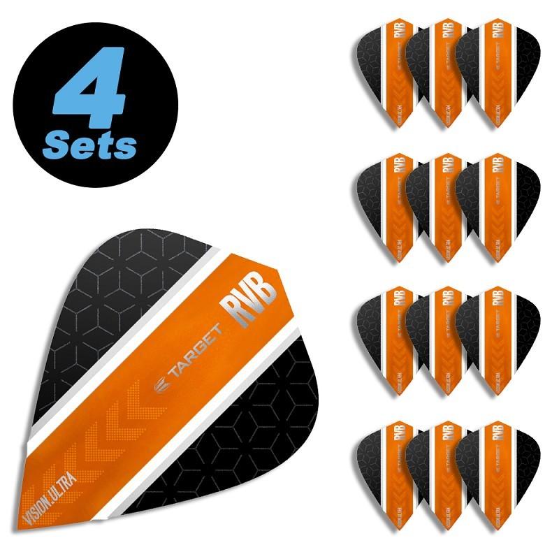 3 per set Bright Orange Kite Dart Flights