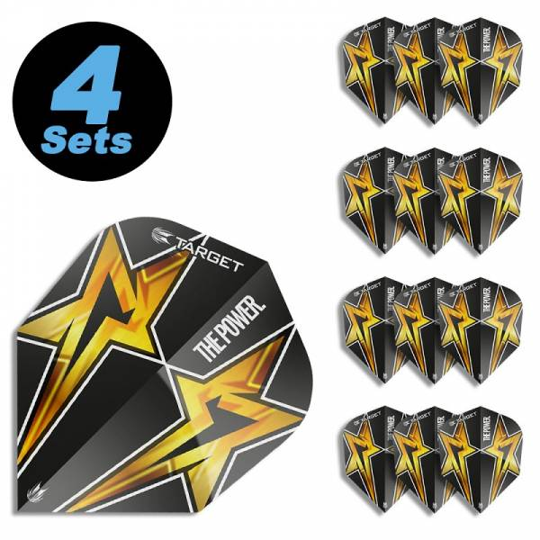 4 Flight Sets (12 Stk) Standard Power Star schwarz